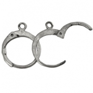 DQ Ohrringe 12mm antik silver plated