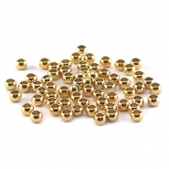 Quetschperlen DQ 3 mm gold plated