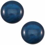 Cabochon Polaris 12 mm Mosso shiny  denim blue