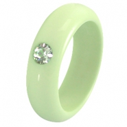 Polaris Ringe 7 mm galastil crysolite green