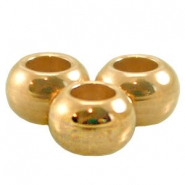 DQ Metall Ball 5 x 3 mm gold (nickelfrei)