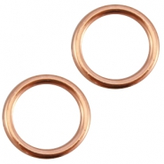 DQ Metall dichte Ring 13.5 mm rosegold (nickelfrei)