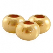Perle flach DQ Metall 7x5mm gold (nickelfrei)