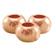 Perle flach DQ Metall 7x5mm rosegold (nickelfrei)