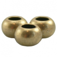 Ball DQ Metall 6 x 4mm antik bronze (nickelfrei)