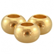 Ball DQ Metall 6x4mm gold (nickelfrei)