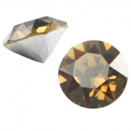 Swarovski Elements chaton SS29 (6.2mm) smokey quartz brown