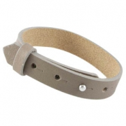 Cuoio Armbänder Leder large-size 15 mm für 20 mm Cabochon taupe