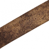 Elastisches Band Ibiza 30 mm Snake dark brown