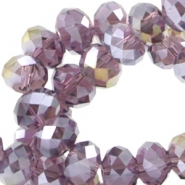 Top Glas Facett Perlen Disc 8x6 mm violet diamond coating