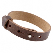 Cuoio Armband Leder large-size 15mm für 20mm Cabochon Fudge brown