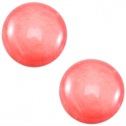 Cabochon Polaris 12mm Mosso shiny Coral pink