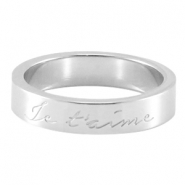 "Slogan Ring ""Je T`aime"" Silber"