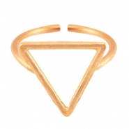 DQ Metall Ringe Triangel 15mm Rosegold (nickelfrei)