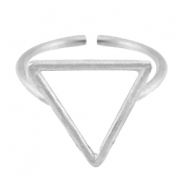 DQ Metall Ringe Triangel 15mm Antik silber (nickelfrei)