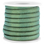 Trendy Jean-Jean Kordel gesteppt 6x4 mm Dark sea green