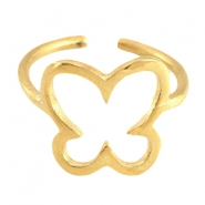 DQ Metall Ringe Schmetterling 13mm Gold (nickelfrei)