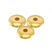 DQ Metall Perlen disc 4x1.5 mm Gold (nickelfrei)