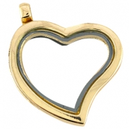 Floating Charm Locket/Medaillon Herz Gold