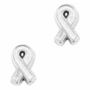 Floating Charms Awareness Ribbon Antik silber-weiss