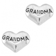 Floating Charms Herz Grandma Antik silber