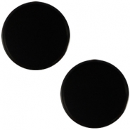 Cabochon Polaris flach 12mm Mosso shiny Black