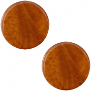 Cabochon Polaris flach 20mm Mosso shiny Amber brown