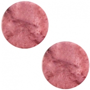 Cabochon Polaris flach 20mm Mosso shiny Antique pink