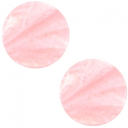 Cabochon Polaris flach 12mm Mosso shiny Pastel coral pink