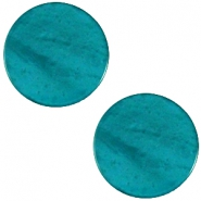 Cabochon Polaris flach 20mm Mosso shiny Deep teal blue