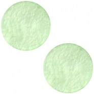Cabochon Polaris flach 12mm Mosso shiny Pastel green
