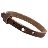 Cuoio Armbänder Nubuck Leder 8 mm für 12 mm Cabochon Dark chocolate brown