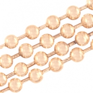 Basic Quality Metall Ballchain 3mm Light rose gold