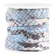 Trendy flach Kordel Snake 10mm Blue