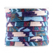 Azteke flach 5mm Multicolor light blue purple