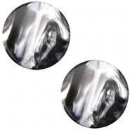 Cabochon Polaris Perseo flach 12mm Black silver