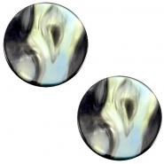 Cabochon Polaris Perseo flach 12mm Antracite blue