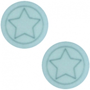 Cabochon Polaris Stern flach 12mm matt Haze blue