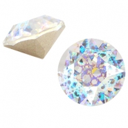 Swarovski Elements chaton SS29 (6.2mm) Crystal white patina