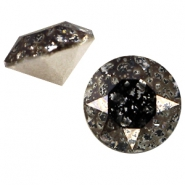Swarovski Elements chaton SS29 (6.2mm) Crystal black patina