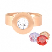 Changeable diamond Ring rostfrei Stahl Rosegold