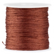 Macramé Satinband 0.8mm  Brown