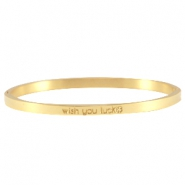 Slogan Armbänder thin Gold