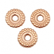 DQ Metall Ring disc 8mm deco Rosegold (nickelfrei)