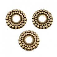 DQ Metall Ring disc 8mm deco Antik bronze (nickelfrei)