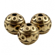 DQ Metall Perlen 8mm deco Antik bronze (nickelfrei)