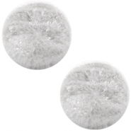 Polaris Cabochon Perseo matt crushed ice 12 mm White grey