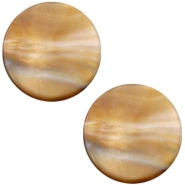 Polaris Cabochon Perseo flach 12mm matt Grey topaz