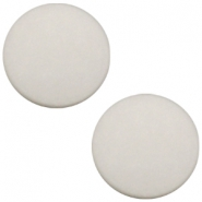 Polaris Cabochon flach 12mm matt Silver shade