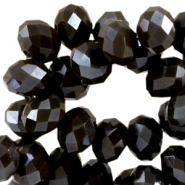Top Glas Facett Perlen Disc 8x6mm Dark olivo brown - pearl diamond coating